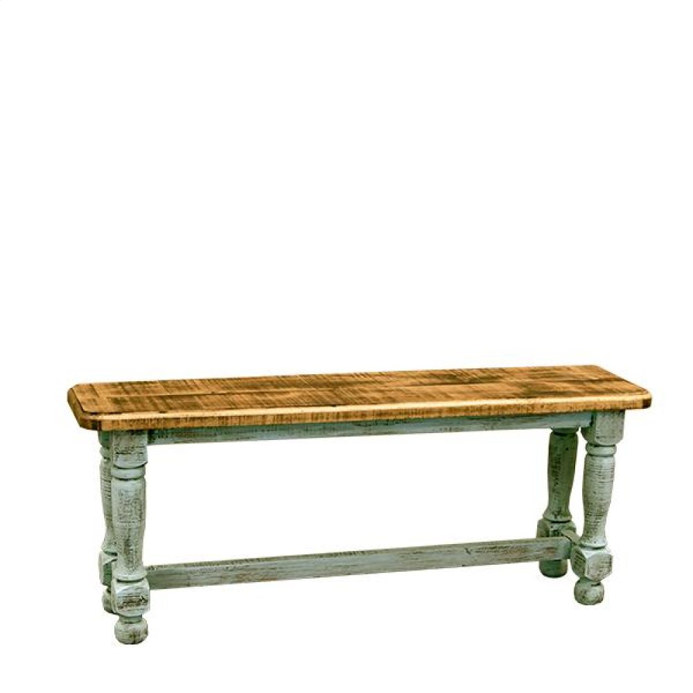 4' Turquoise Bench
