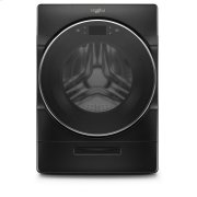 Whirlpool® 5.0 cu. ft. Smart Front Load Washer with Load & Go™ XL Plus Dispenser - Black Shadow Product Image