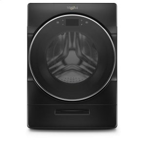 Whirlpool® 5.0 cu. ft. Smart Front Load Washer with Load & Go XL Plus Dispenser - Black Shadow Product Image