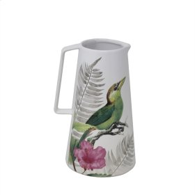 White Bird & Flower Vase