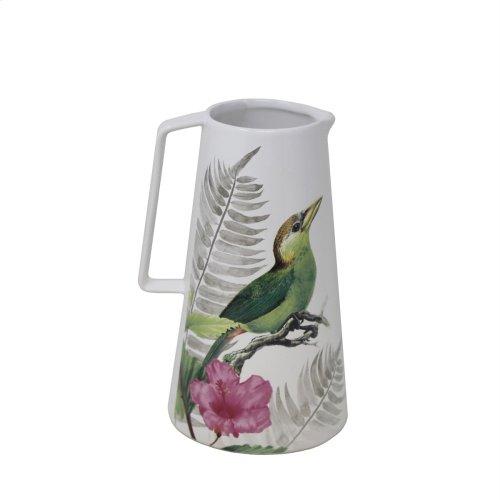 White Bird & Flower Vase