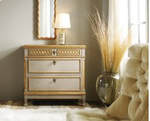 Painted Regency Bedside Chest, Hand Painted Finish. Gold Leaf Detailing.