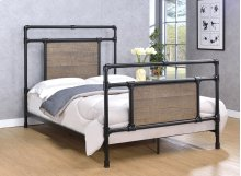 Elkton Bed - Full, Matte Black Finish