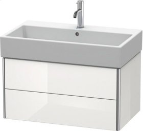 Vanity Unit Wall-mounted, White High Gloss Lacquer