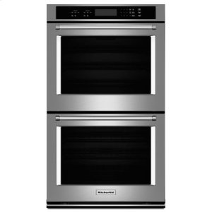 """KITCHENAID27"""" Double Wall Oven with Even-Heat Thermal Bake/Broil - Stainless Steel"""