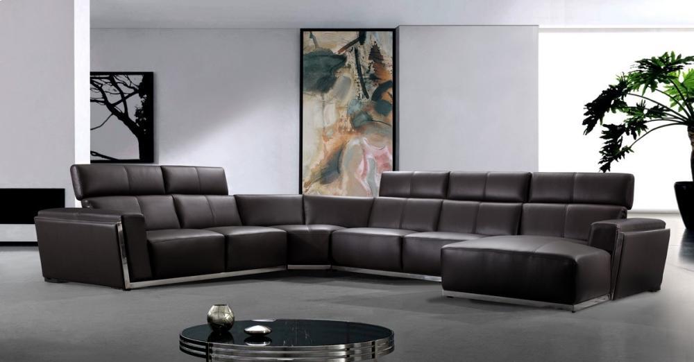 Charmant Divani Casa Tempo   Leather Sectional Sofa