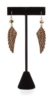 BTQ Copper Wing Earrings