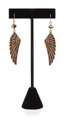 BTQ Copper Wing Earrings