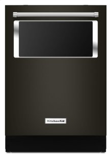 44 dBA Dishwasher with Window and Lighted Interior - Black Stainless