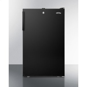 """SummitADA Compliant 20"""" Wide Counter Height All-freezer for General Purpose Use, -20 C Capable With A Lock and Black Exterior"""