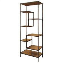 "Helena 83"" Bookcase-Ant Blch Seal/Wax Bl"
