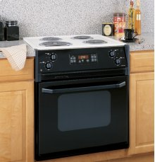 "GE Spacemaker® 27"" Drop-In Electric Range with Self-Cleaning Oven"