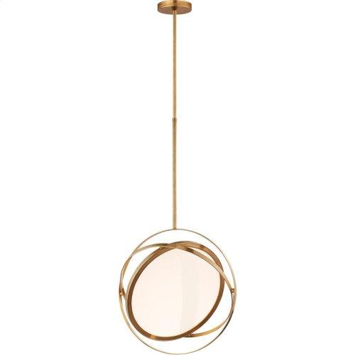 Visual Comfort PB5115NB Peter Bristol Orbit LED 19 inch Natural Brass Pendant Ceiling Light
