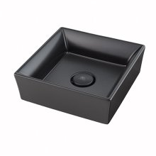 Pop Square Vessel Bathroom Sink - Matte Black