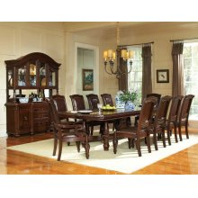 Antoinette Ped Table 5PC Dining Set