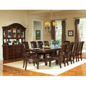 "Steve Silver Co.Antoinette Ped Table w/24"" Leaf 48""W x 96-120""L x 30""H"