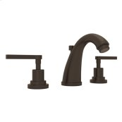Tuscan Brass Lombardia C-Spout Widespread Lavatory Faucet with Metal Lever