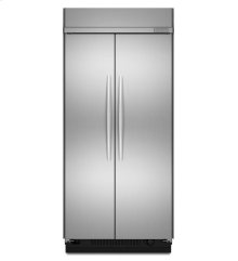 25.5 Cu. Ft. 42-Inch Width Built-In Side-by-Side Refrigerator, Architect® Series II - Stainless Steel *** Floor Model Closeout Price ***
