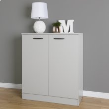 2-Door Storage Cabinet - Soft Gray