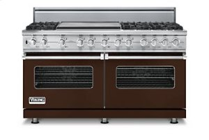 "60"" Custom Sealed Burner Dual Fuel Range, Propane Gas, No Brass Accent"