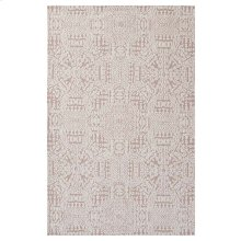 Javiera Contemporary Moroccan 5x8 Area Rug in Ivory and Cameo Rose