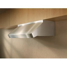 "Centro Poco - 48"" Stainless Steel Pro-Style Range Hood with internal/external blower options"