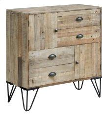 Northbrook Rustic Metal & Natural Wood 2 Door, 4 Drawer Chest