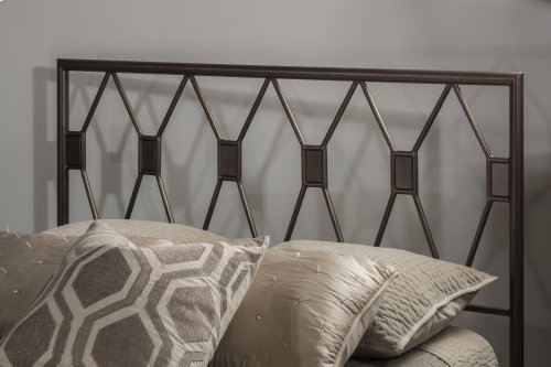 Tripoli King Bed Set With Rails (black Pewter)