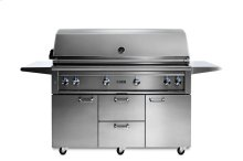 """54"""" Lynx Professional Freestanding Grill with 1 Trident and 3 Ceramic Burners and Rotisserie, LP"""