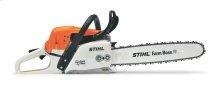 A high-performance, high-tech, fuel-efficient chainsaw.
