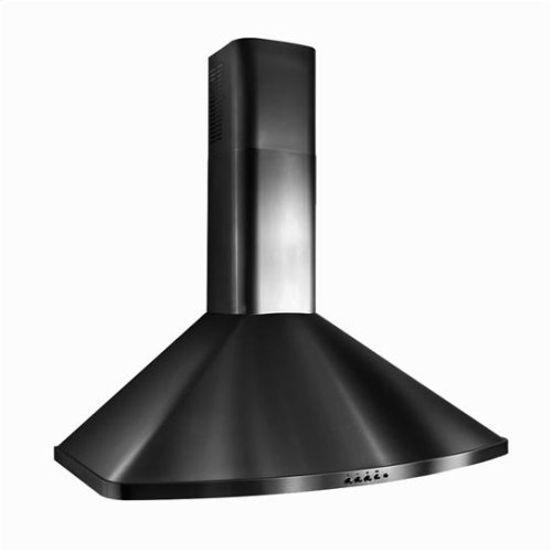 "30"" - Black Range Hood with 400 CFM Internal Blower"