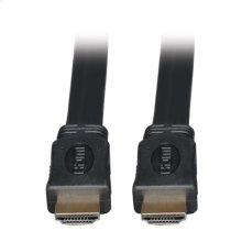 High Speed HDMI Flat Cable, Ultra HD 4K x 2K, Digital Video with Audio (M/M), Black, 6-ft.