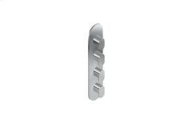 Ametis M-Series Round Thermostatic 4-Hole Trim Plate and Handle