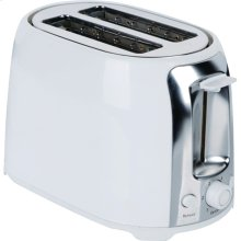 2-Slice Cool-Touch Toaster with Extra-Wide Slots (White & Stainless Steel)