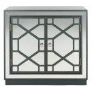 Juniper 2 Door Chest - Steel Teal / Nickel / Mirror Product Image