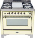 Antique White with Chrome trim - Majestic 36-inch Range with Griddle Product Image