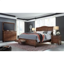 Queen Sleigh Storage Bed (Black Finish)