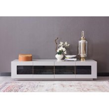 Modrest Frost Modern Small Grey TV Unit