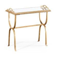 glomise & Gilded Iron Tray Table