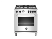 30 inch 4-Burner, Gas Oven Stainless