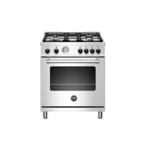 Bertazzoni30 inch 4-Burner, Gas Oven Stainless