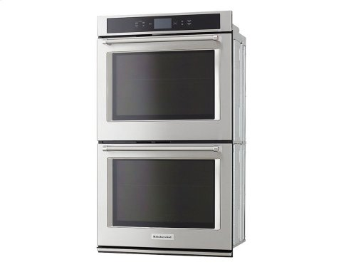 """Smart Oven+ 30"""" Double Oven with Powered Attachments and PrintShield Finish - Stainless Steel"""