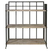 """Driftwood Iron"" 3 Shelf open Display Unit"