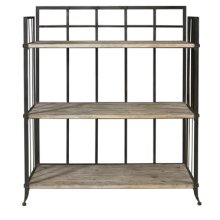"""Driftwood Iron"" 3 Shelf open Display Unit"