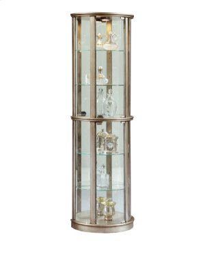 Metallic Mirrored Half Round Curio
