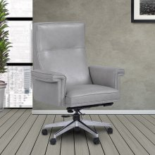 DC#119 Mist Leather Desk Chair