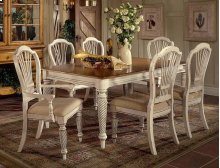 Wilshire 7pc Rectangle Dining Set Antique White