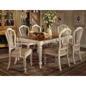 Hillsdale FurnitureWilshire 7pc Rectangle Dining Set Antique White