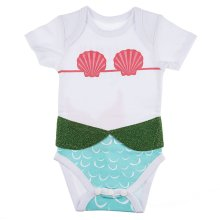 """I'm Really a Mermaid"" 3D Diaper Shirts (6 pc. ppk.)"