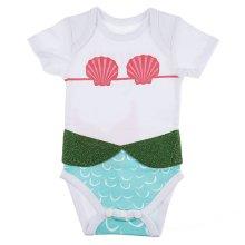 """I'm Really a Mermaid"" 3D Diaper Shirts (6 pc. ppk.)"
